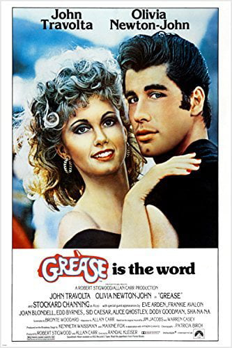 Classic Movie Poster Grease Olivia Newton John John Travolta 50'S 24X36 by