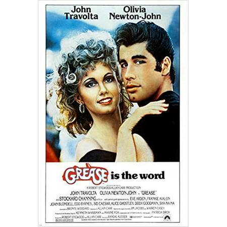 Classic Movie Poster Grease Olivia Newton John John Travolta 50'S - 50s Fashion Grease