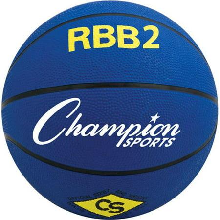 Champion Sports RBB2RD Ballon de basketball professionnel en caoutchouc, 27,5 po, rouge - image 1 de 1