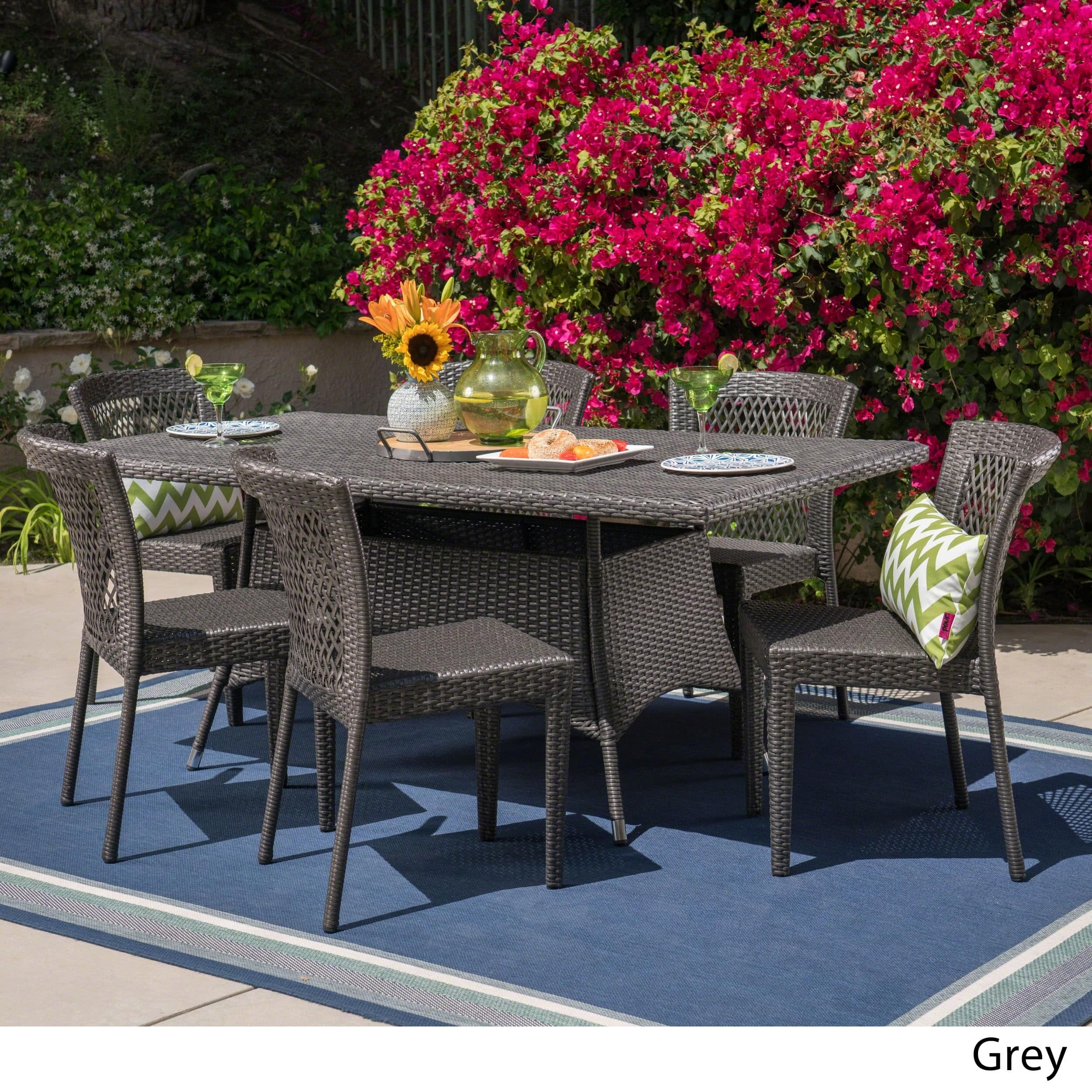 Christopher Knight Home Rafael Outdoor 7-piece Wicker Dining Set by