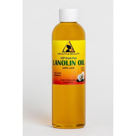 LANOLIN OIL USP GRADE PHARMACEUTICAL SKIN HAIR LIPS MOISTURIZING 100% PURE 4 (Best Pharmaceutical Grade Skin Care)