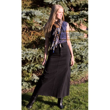 "40"" Long BLACK A-line Skirt 