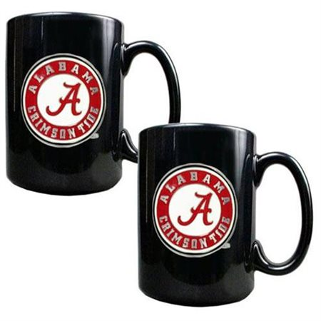 NCAA - Alabama Crimson Tide 2pc. Black Ceramic Mug Set