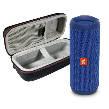 JBL FLIP 4 Blue Kit Bluetooth Speaker & Portable Hardshell Travel Case