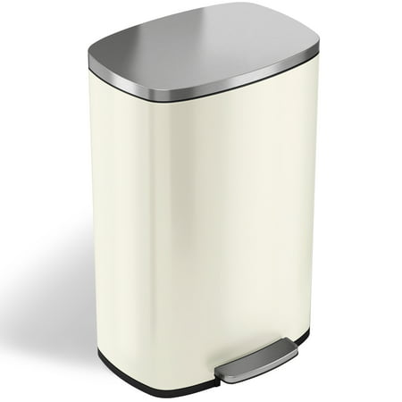 Itouchless Softstep 13 2 Gallon Ivory White Stainless