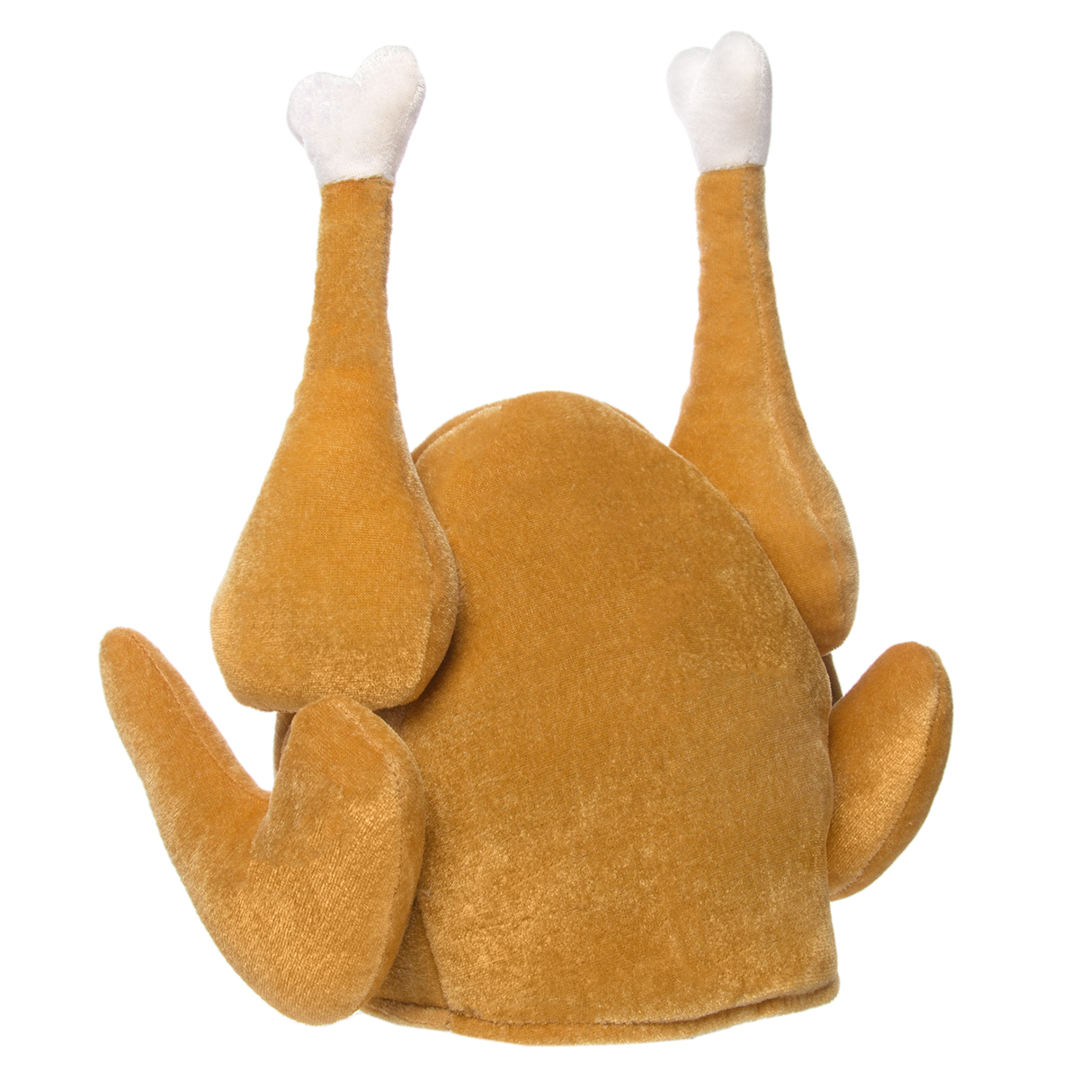 Simply Genius Plush Roasted Turkey Hats Thanksgiving Halloween Costume Holiday Trot Accessory