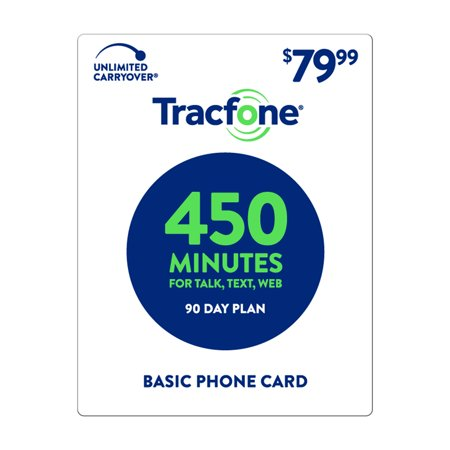 TracFone $79.99 Basic Phone 450 Minutes Plan (Email