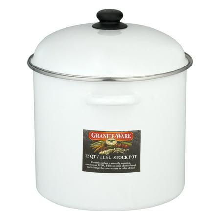 Granite-Ware Stock Pot 12 QT White, 1.0 CT
