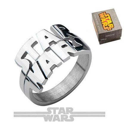 Star Wars Logo Cut Out Ring SIZE 8 (Number of Pieces Per Case: 3)