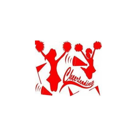 Custom Wall Decal Cheerleading Picture Art - Girls Bed Room - Home Decor Sticker Vinyl Wall Decal