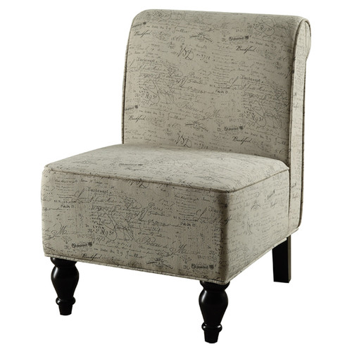 Accent Chair, Vintage French Traditional Fabric
