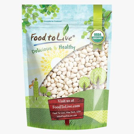 Blk Bean (Organic Navy Beans, 5 Pounds - Kosher, Raw, Vegan, Dry White Small Kidney Pea Beans, Non-GMO, Bulk - by Food to Live)