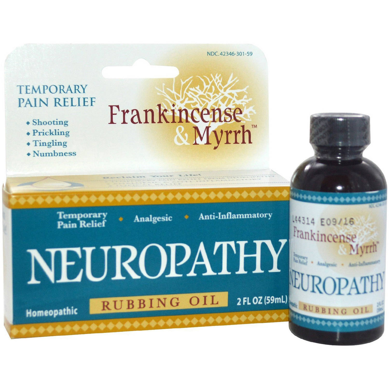 Frankincense & Myrrh Neuropathy Rubbing Oil, 2 Fl Oz