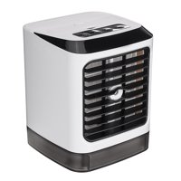 "5.7"" x 5.7"" x 7.2"" USB Mini Portable Air Conditioner Fan Humidifier Purifier 7 Colors Light Desktop For The Summer"