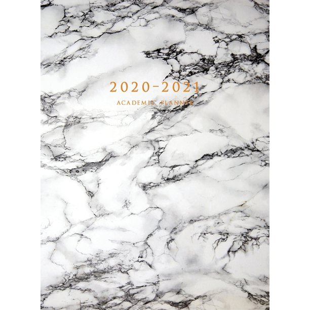 2020-2021 Academic Planner: Large Weekly and Monthly Planner with Inspirational Quotes and Marble Cover Volume 2 (Hardcover) (Hardcover)
