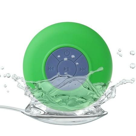 Waterproof Wireless Bluetooth Handsfree Mic In-Car / Shower Mini Suction Speaker (Best Creative Mini Speaker Bluetooths)