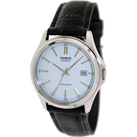Casio Men's Core MTP1183E-7A White Leather Quartz Watch
