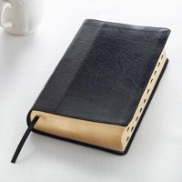 KJV Holy Bible, Giant Print Standard Bible, Black Two-tone Faux Leather w/Thumb Index and Ribbon Marker, Red Letter Edition, King James Version