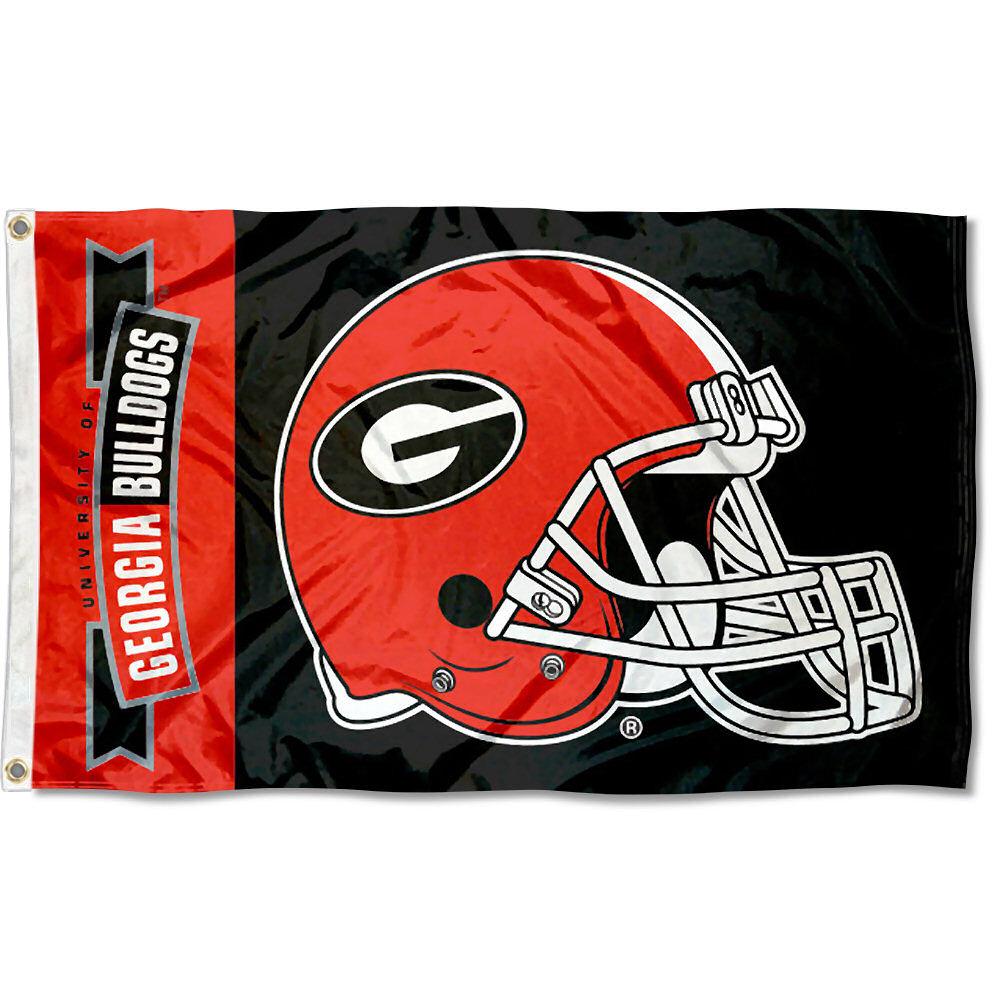 Georgia Bulldogs Football Helmet 3' x 5' Pole Flag