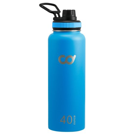 Stainless Steel Vacuum Insulated Double Wall Water Bottle 20oz, 32oz or (Camelbak Chute 40oz Vacuum Insulated Stainless Water Bottle)