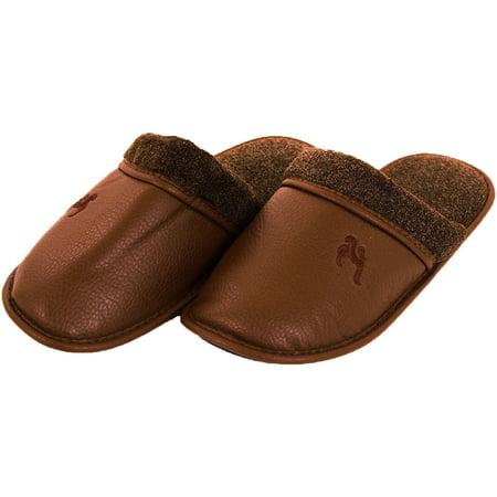 Slm Slm Men S Faux Leather Scuff Slippers Walmart Com