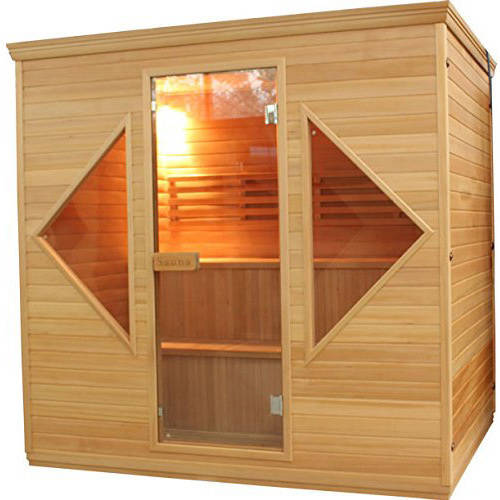 ALEKO STI6HELSINKI 4-5 Person Canadian Hemlock Wood Indoor Wet Dry Sauna with 4.5 KW ETL... by ALEKO