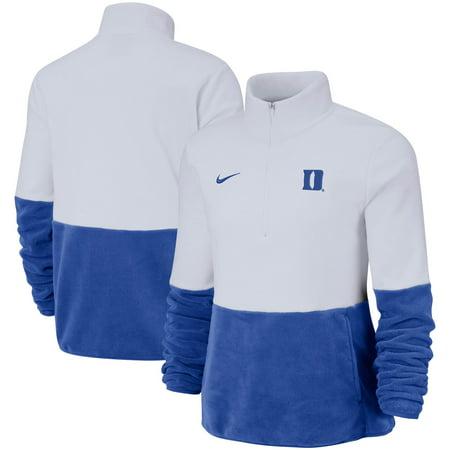 Duke Blue Devils Nike Women's Colorblock Performance Half-Zip Jacket - White/Royal Nike Hockey Jacket