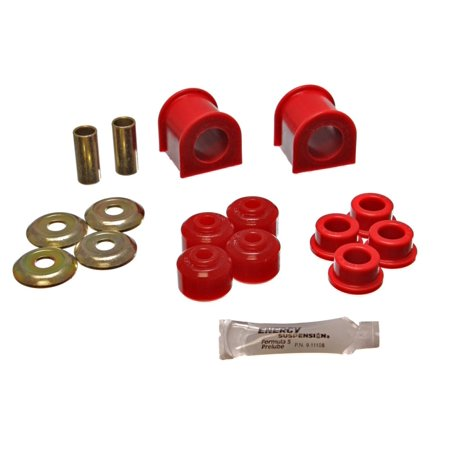 Energy Suspension 93-98 Jeep Grand Cherokee Complete Red Frt Sway Bar Bushing Set w/End Link Bushing