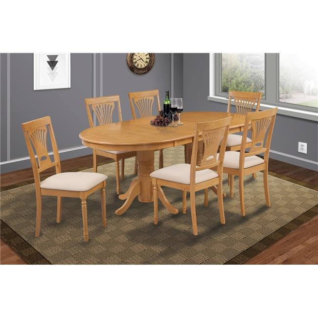 Mu0026amp;D Furniture SOME7 OAK C 7 Piece Dining Room Set Table With