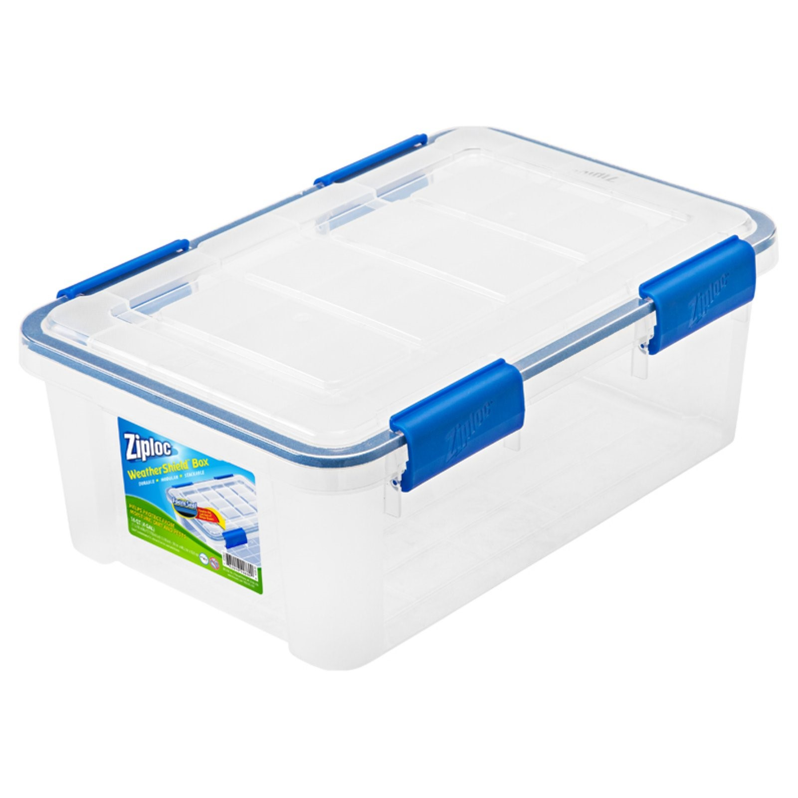 Ziploc 16 Qt./4 Gal. WeatherShield Storage Box, Clear