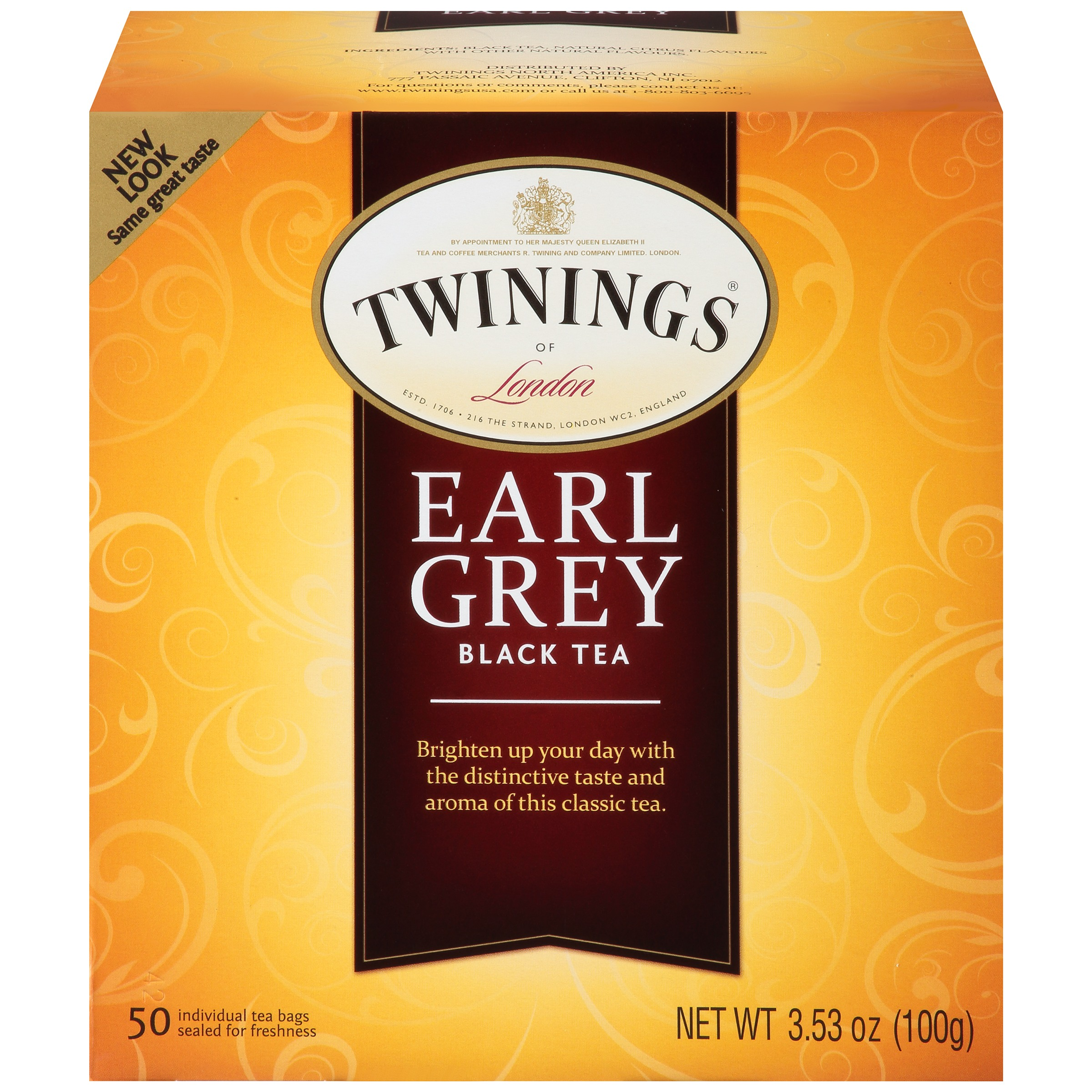 (4 Pack) Twinings of London Classics Earl Grey Tea - 50 CT