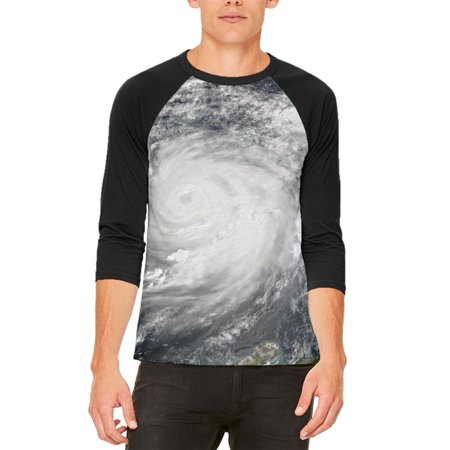 Halloween Gulf Coast Hurricane Costume Mens Raglan T - Bass Coast Halloween