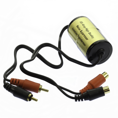 20 Amp Ground Loop Isolator Noise Suppressor Filter Killer RCA to RCA 20 AMP 23