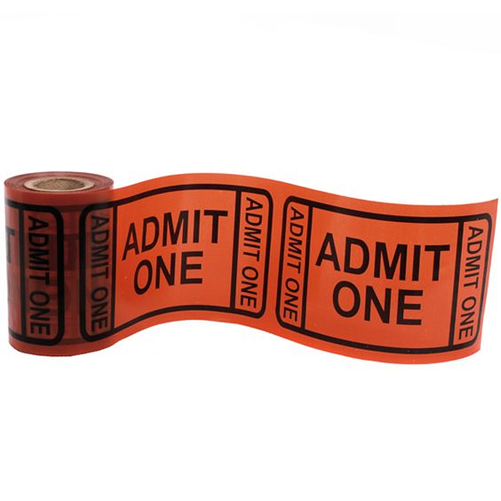 "Beistle ""Admit One"" Movie Ticket Style Party Tape, 1 count"