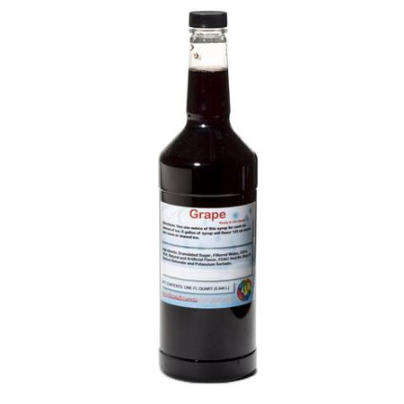 Grape Ready to Use Shaved Ice or Sno Cone Syrup Quart