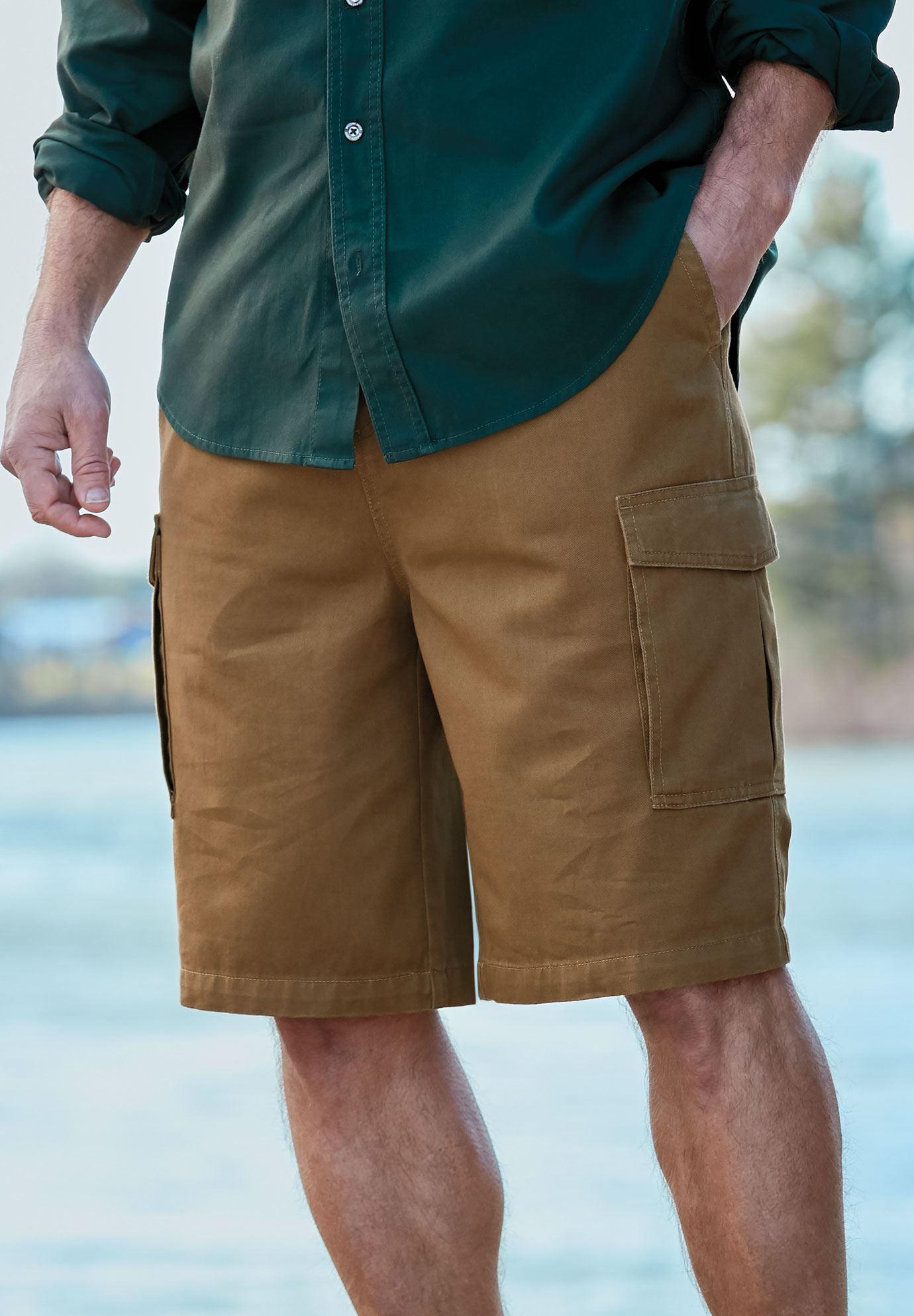 Boulder Creek by Kingsize Mens Big /& Tall 12 Denim Cargo Shorts
