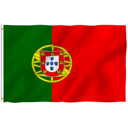 ANLEY [Fly Breeze] 3x5 Foot Portugal Flag - Vivid Color and UV Fade Resistant - Canvas Header and Double Stitched - Portuguese National Flags Polyester with Brass Grommets 3 X 5 Ft