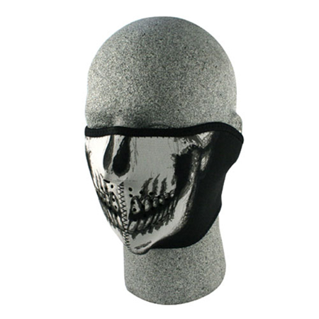 Half Mask Neoprene Skull Fac - Skull Half Mask