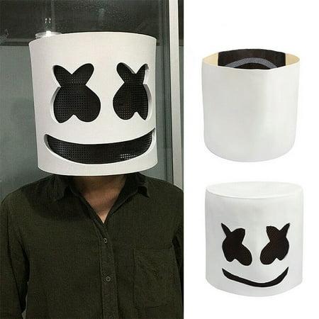 Costume Eye Mask (DJ Helmet Eye Mask Full Head Cosplay Costume Mask Bar Music)