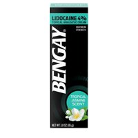 Bengay Pain Relieving Lidocaine Cream, Tropical Jasmine, 3 oz