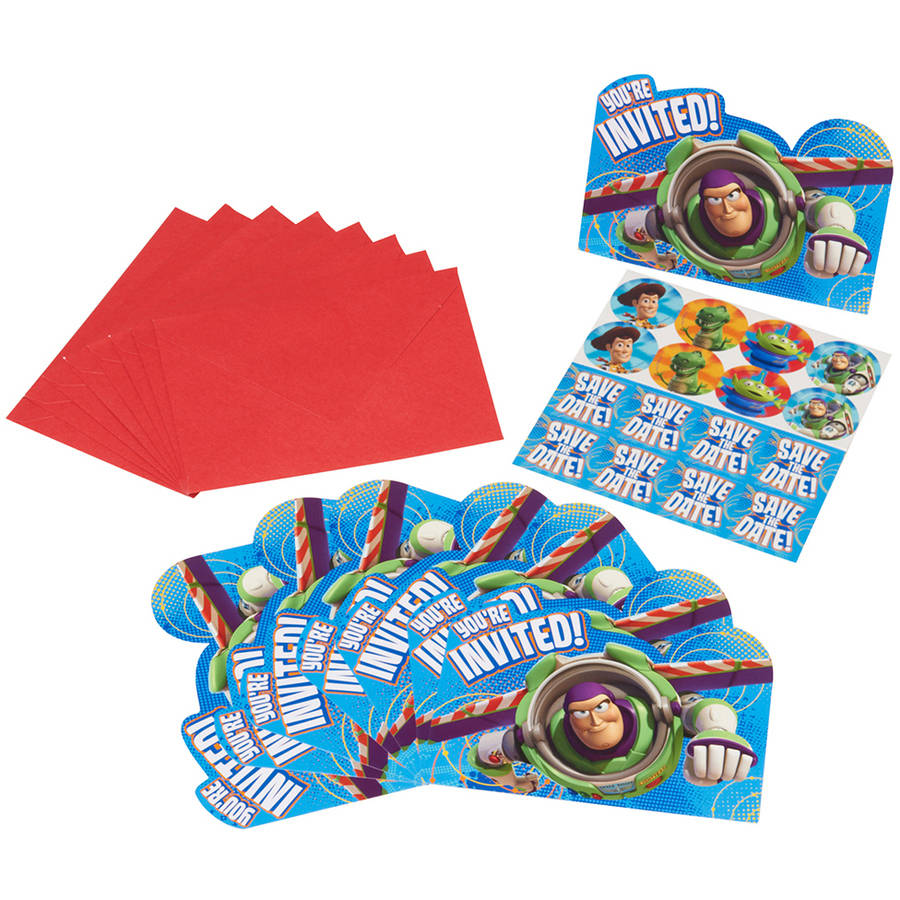 Toy Story 3 Invite Postcards, 8 Count, Party Supplies