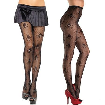 Ideas For Halloween Parties At School (Halloween Sexy Women Ladies Pantyhose Fishnet Stockings Tight Elastic Black Skull Printed Fashion)