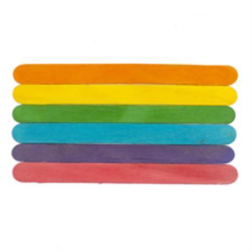 Brand New 916602-500 Wooden Colored Jumbo Craft Stick Bag of 500