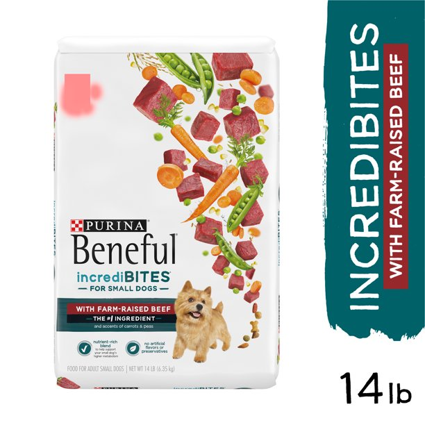 Purina Beneful Incredibites with Farm-Raised Beef, Small Breed Dry Dog Food, 14 lb. Bag