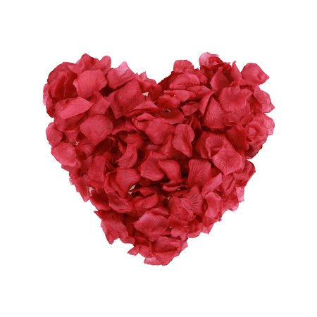 500pcs Silk Flower Rose Petals Wedding Party Decoration,Dark Burgundy](Cheap Rose Petals)
