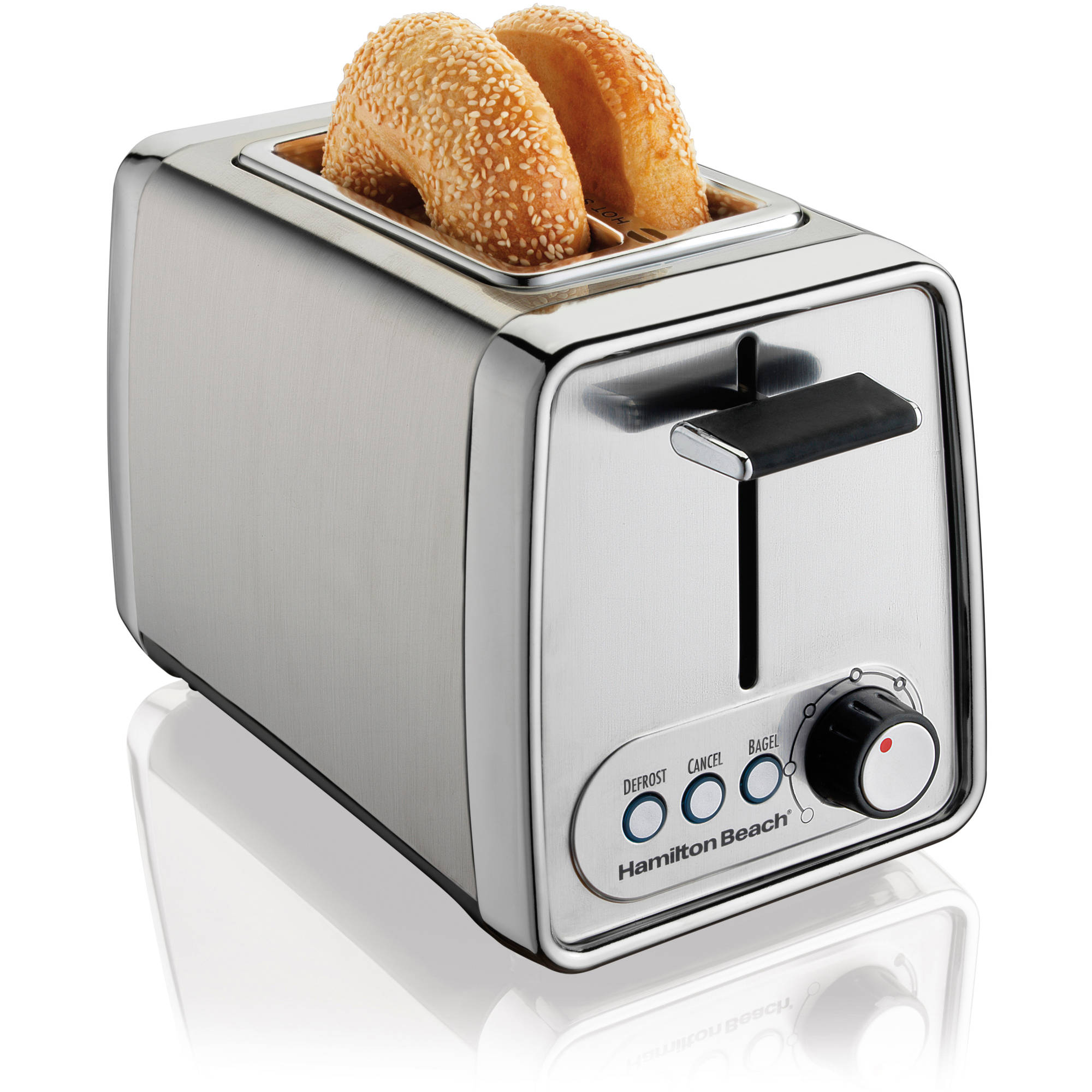 Chefman Stainless Steel 2-Slice Wide Slot Toaster w/ Bagel ...