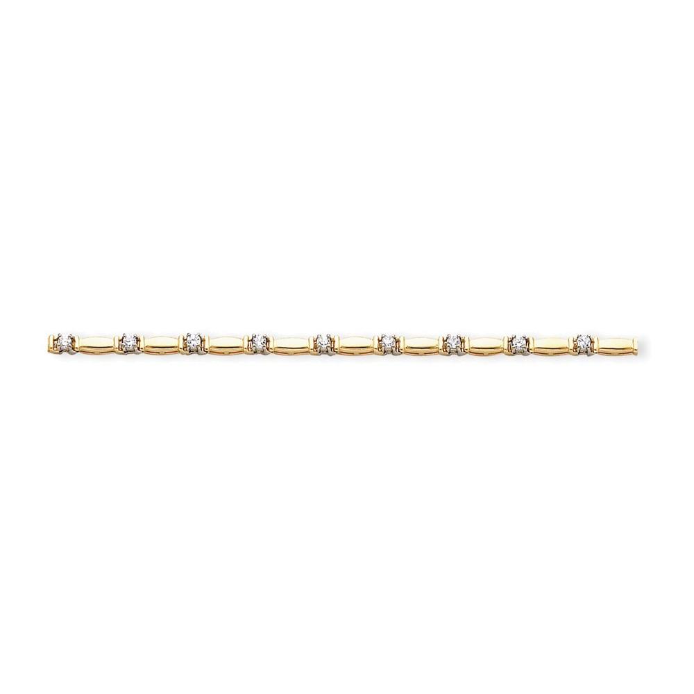 14k A Diamond tennis bracelet Diamond quality A (I2 clarity, I-J color) by