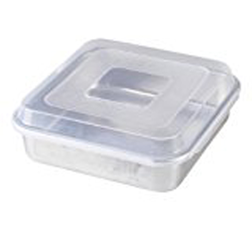 """Nordic Ware Naturals® 9"""" Square Cake Pan with Lid, Aluminum, Lifetime Warranty, 1.36 lbs, 9"""" X 9"""" X 2.40"""