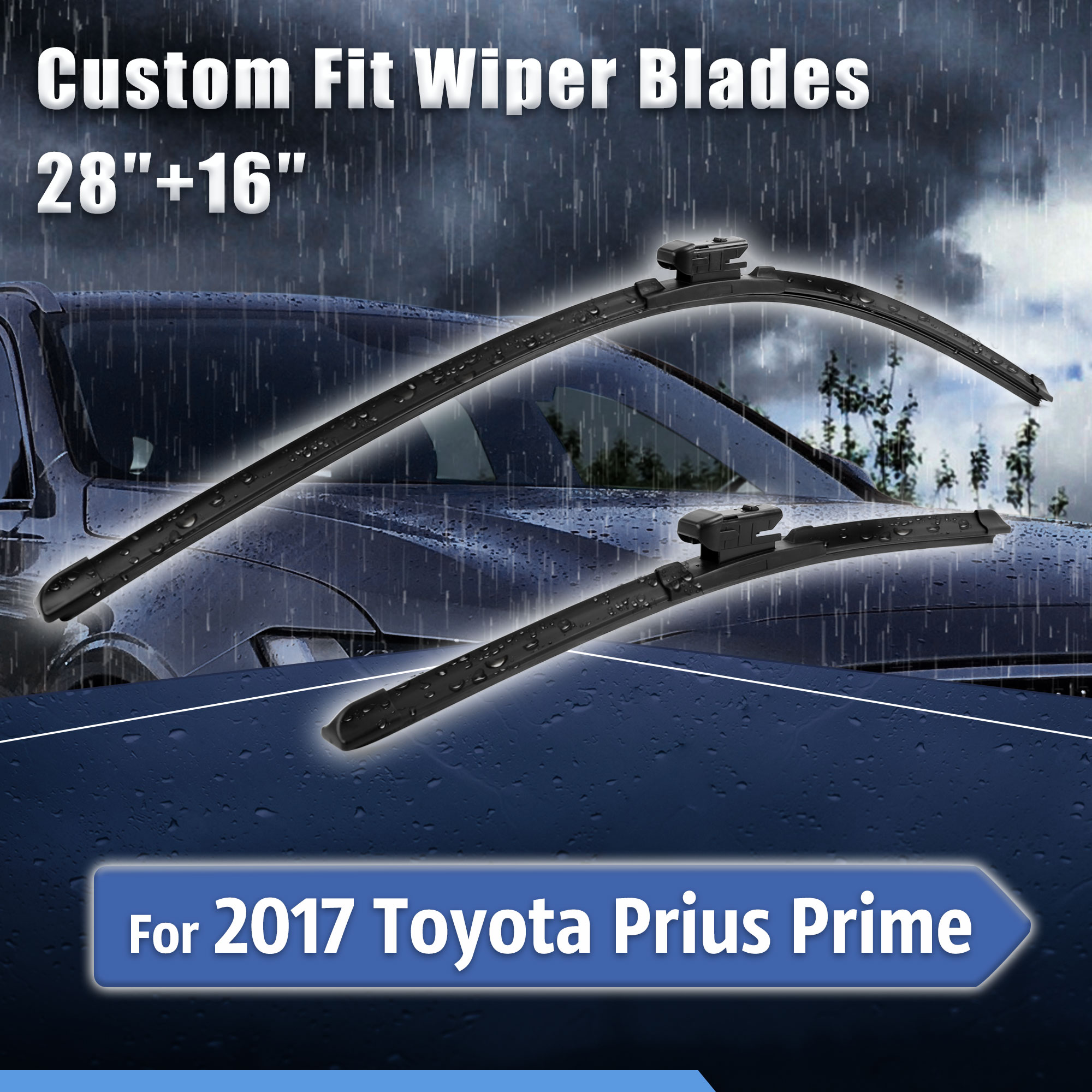 2019 Toyota Prius Prime: Custom Fit Front Windshield Wiper Blades For 2017 TOYOTA