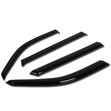 For 1996 to 2003 Mercedes -Benz W210 E320 Wagon 4pcs Window Vent Visor Deflector Rain Guard (Dark Smoke) 97 98 99 00 01 02
